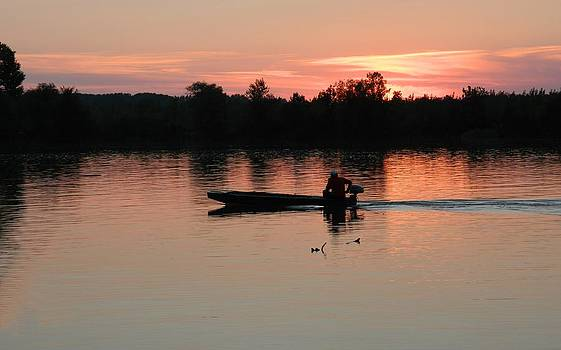 Sunset on Danube by Milan Perosavljevic
