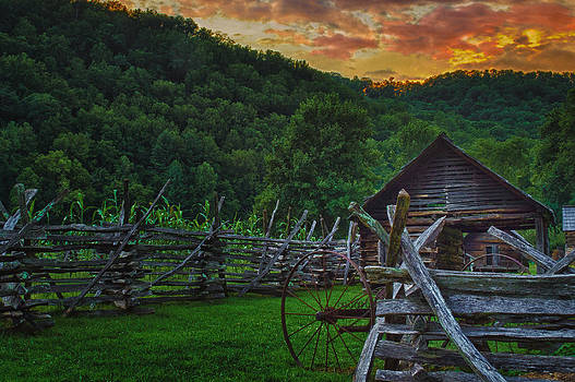 Sunset on the Farm by Christopher Mobley