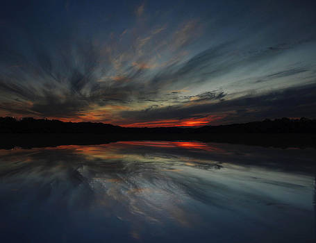Sunset on the lake by Michael Austin