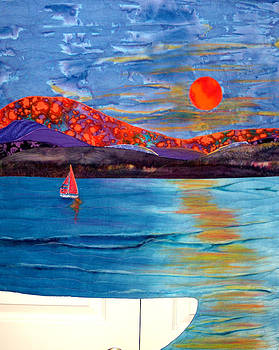 Sunset On The Sound by Maureen Wartski