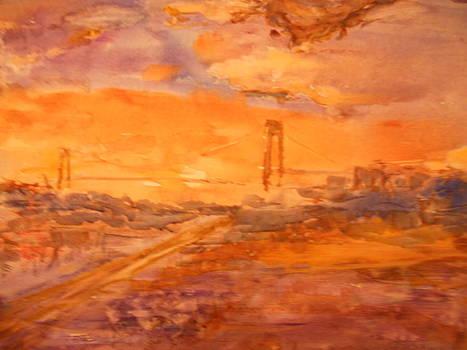 Sunset on Verazzano by Viorica Stampfel