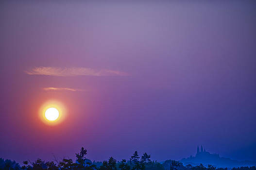 Sunset over Holy Hill 1 by Jennifer Brindley