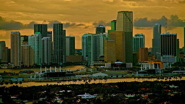 sunset over Miami 350 by Ronald  Bell