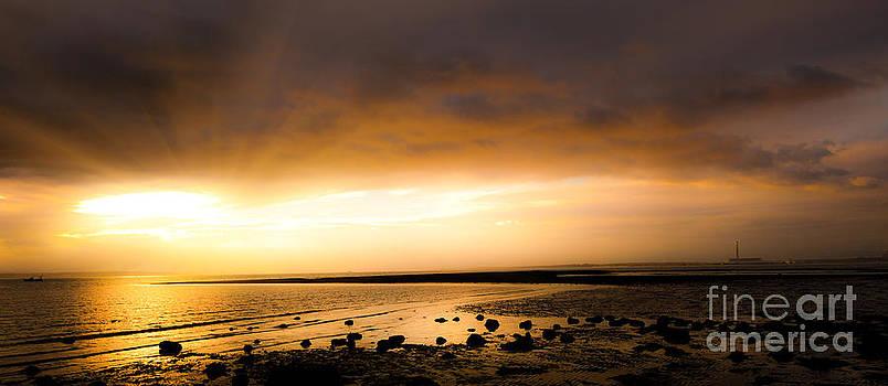 Simon Bratt Photography LRPS - Sunset panoramic sea shore