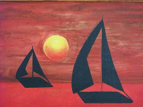 Sunset Sail by Rick Tucker