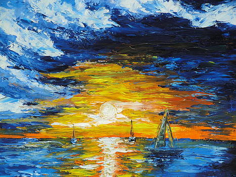 Sunset Sails by Charles Vaughn