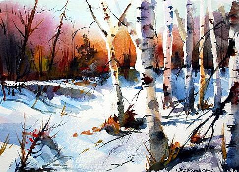 Sunshine and Birch by Wilfred McOstrich