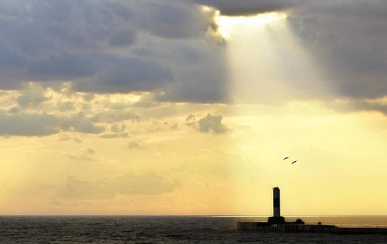 Sunshine on Lighthouse by Jeramie Curtice