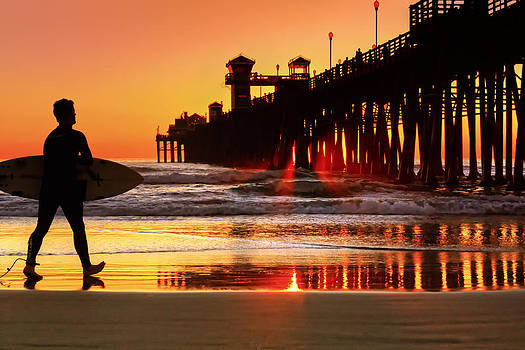 Surf Session at Sunset by Donna Pagakis