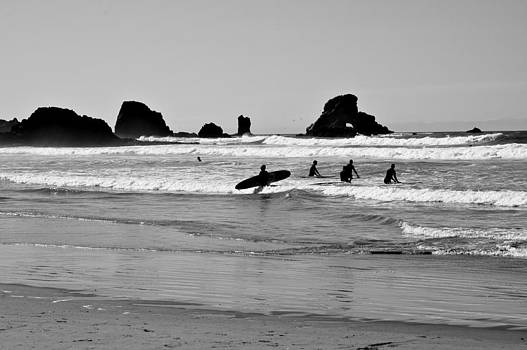 Surfing at Haystack Beach by Laurianna Murray
