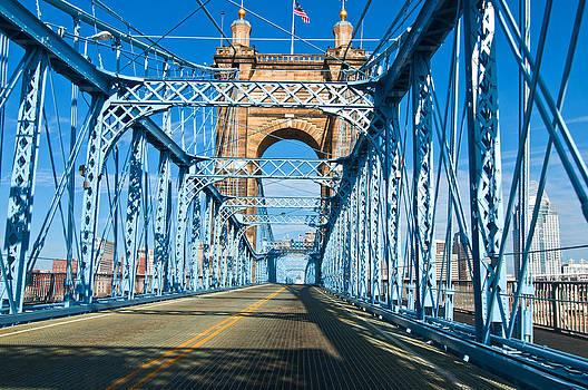Randall Branham - Suspension Bridge cincinnati by Randall Branham