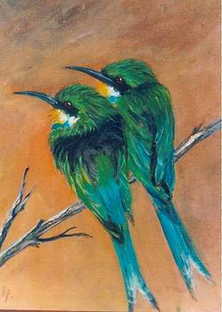 Swallow Tailed Bee-Eaters by Rita Palm