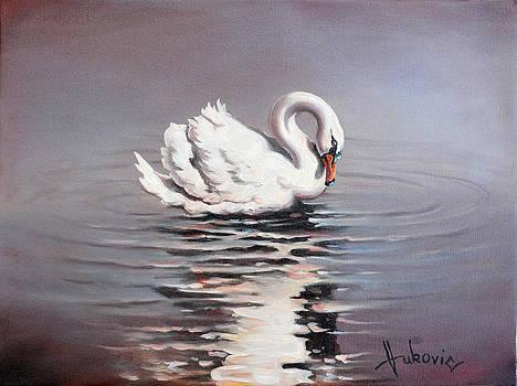 Swan by Dusan Vukovic