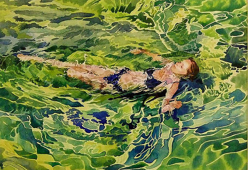 Swimer In Croatian Sea by Gilly Marklew