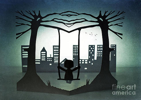 Swing with a city view by Catherine MacBride