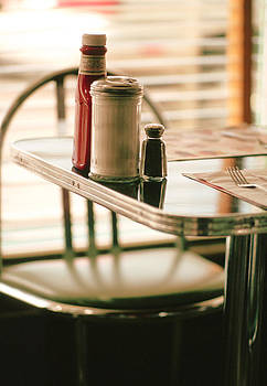 Table At Diner by Pierre Desrosiers