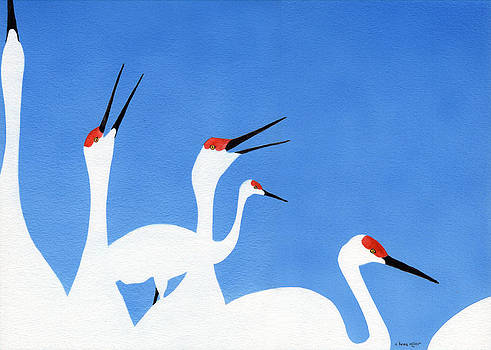 Talking Cranes by A Leon Miler