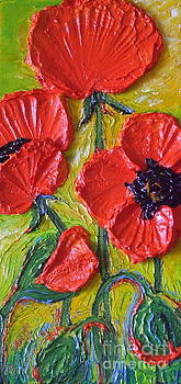 Tall Red Poppies by Paris Wyatt Llanso