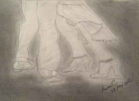 Tango dancers by Manuela Constantin