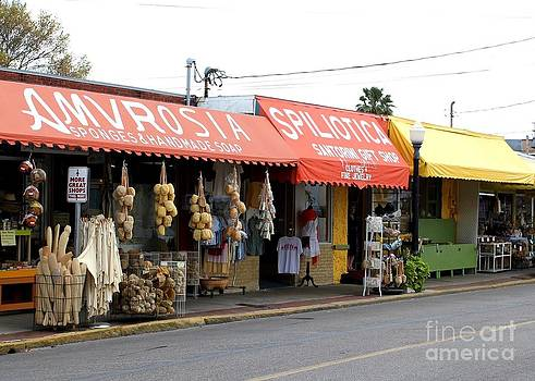 Tarpon Springs Storefronts by Theresa Willingham