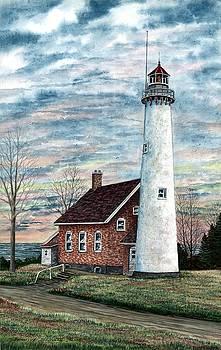 Tawas Point Light by Steven W Schultz