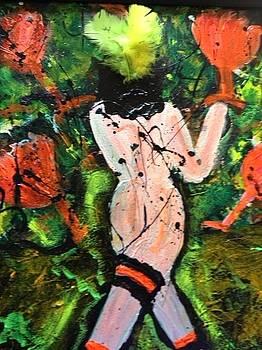 Teal Tart Marguarita Girl 1 by Annette McElhiney