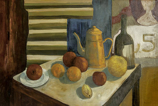 Teapot with Fruit and Wine by Lynn Palmer - MC