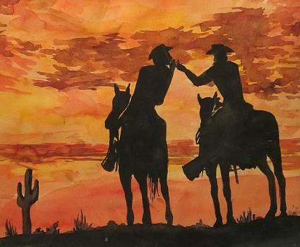 Texas Desert Sunset by Susan  McNeil