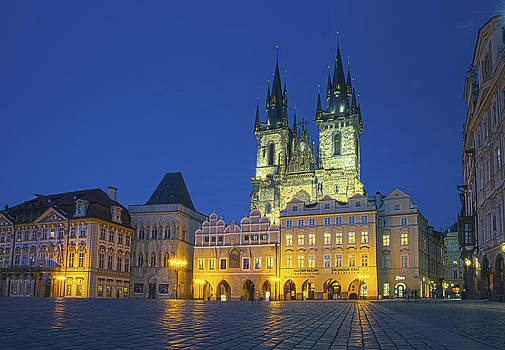 Teyn Church Prague  by Travel Images Worldwide