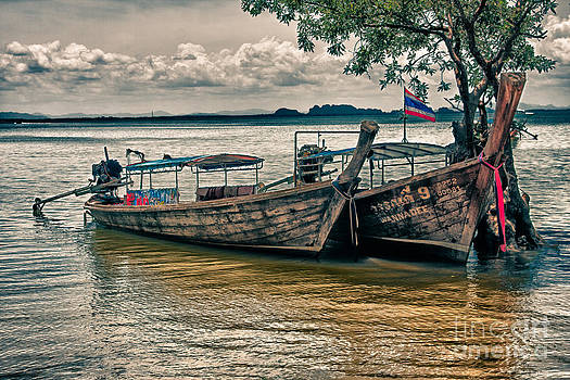Thai boats by Eugene Volkov