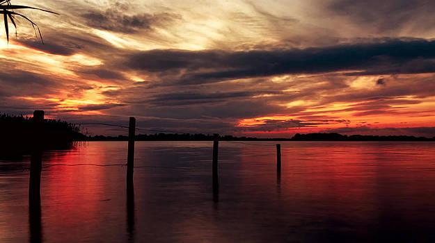 The Burning Red Lake by Kim Shatwell-Irishphotographer