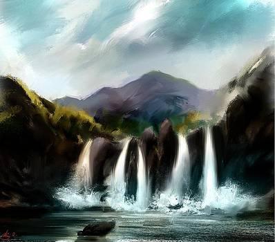 The Falls  by Kiran Kumar