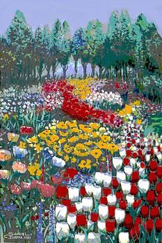 The flower garden. by Samuel Daffa