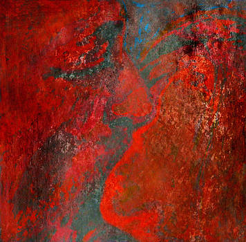 The Kiss - Red  by Florin Birjoveanu