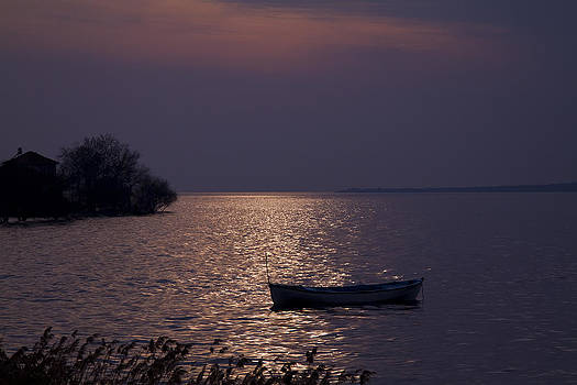The Lake on the evening by Zafer GUDER