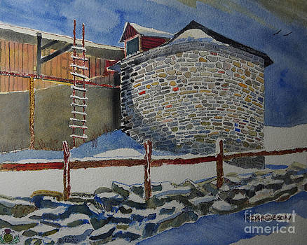 The Old Stone Silo by Donald McGibbon