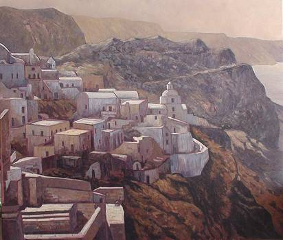 The panorama of Santorini by Charalampos Laskaris