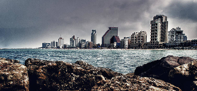 The rocks_the sea_the city by Amr Miqdadi