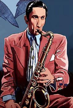The Saxofonist by Jose Roldan Rendon