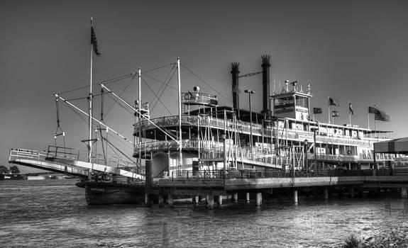 Bourbon  Street - the Steamboat Natchez