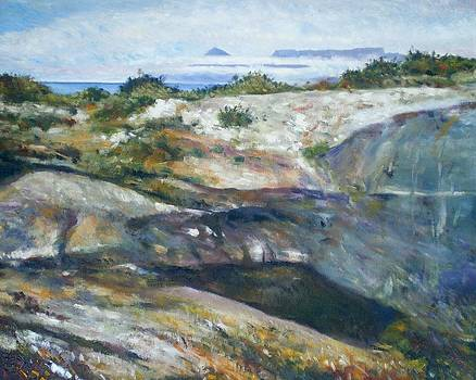 The stone quarry at Robben Island Cape Town South Africa 1997 by Enver Larney