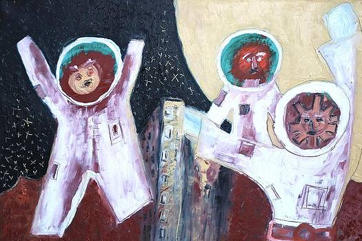 The Three Cosmonauts by Raul Gubert