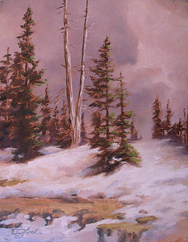 The Wasatch Divide Plein Air by Mia DeLode