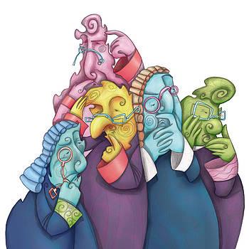 Thoughtful Lawyers by Autogiro Illustration