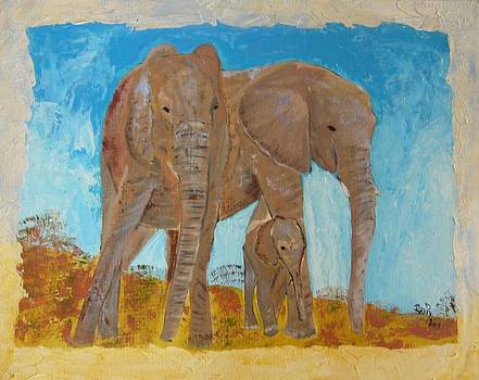Three elephants go ... by Beata Rosslerova