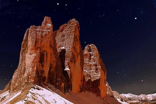 Three Peaks on Mars by Helmut Rottler