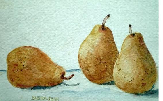 Three Pears by Barbra Joan