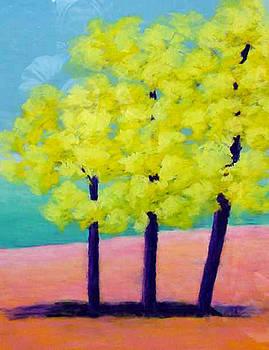 Three Trees on Beach by Karin Eisermann