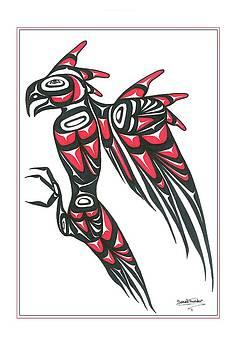 Thunder bird red and black by Speakthunder Berry