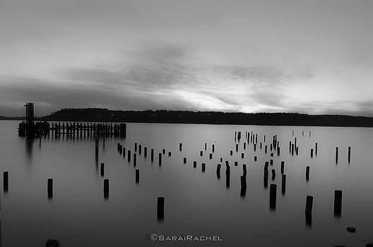 Tiltow Beach  in Black and White by Sarai Rachel